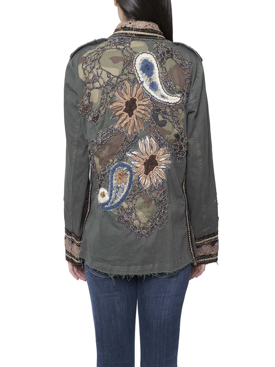 Military embroidered jacket